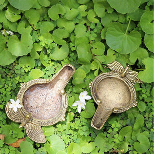 Handcrafted Dhokra Oil Lamps (Set of 2)