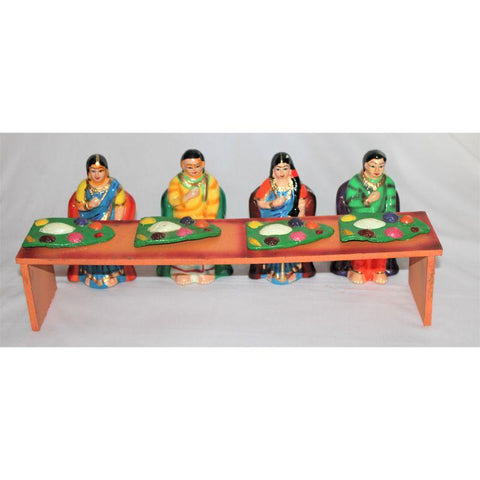 Dinner Set Toy made of Paper Waste(Set Of 10)