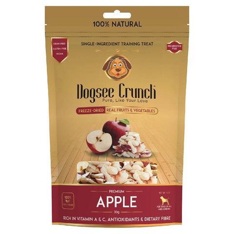 Dogsee Crunch Apple - Single-Ingredient Freeze-Dried Dog Snack, 30g