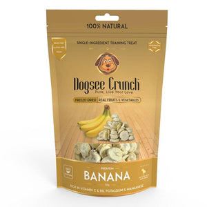 Dogsee Crunch Banana - Single-Ingredient, Freeze-Dried Dog Snack, 30g