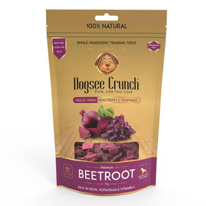 Dogsee Crunch Beetroot - Single-Ingredient Freeze-Dried Dog Snack, 30g