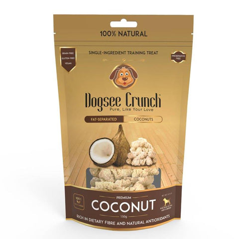 Dogsee Crunch Single-Ingredient Training Treat from Fat-Separated Coconuts, 30g