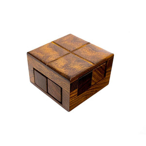 Handcarved Wooden Double Decker Puzzle