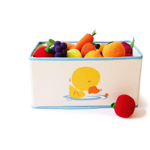 Foldable and Stackable Canvas Toy Storage Bin (Duck)