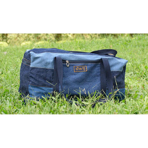 Duffel Bag made with Upcycled Jeans