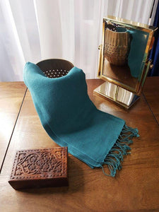 Eco-Friendly Hemp Scarf  - Ocean