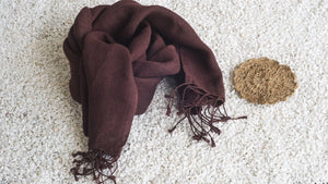 Eco-Friendly Hemp Scarf  - Oxblood