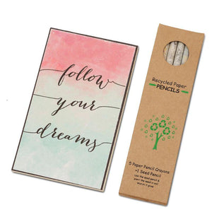 Eco-Friendly Stationery Gift Set - Follow Your Dreams
