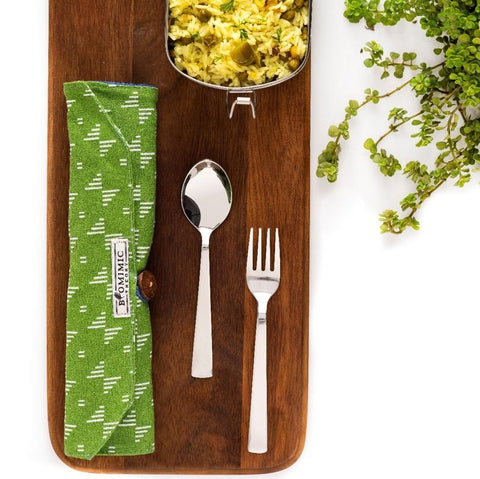Eco-Friendly Travel Steel Cutlery Set and Organiser - Fab Array