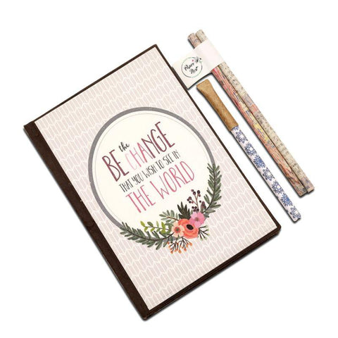 Eco-Friendly Stationery Gift Set - Be the Change
