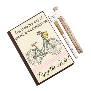 Eco-Friendly Stationery Gift Set - Enjoy the Ride