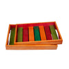 Hand-Carved Wooden Serving Trays - Set Of 2 (Multi-Coloured) created by Traditional Artisans