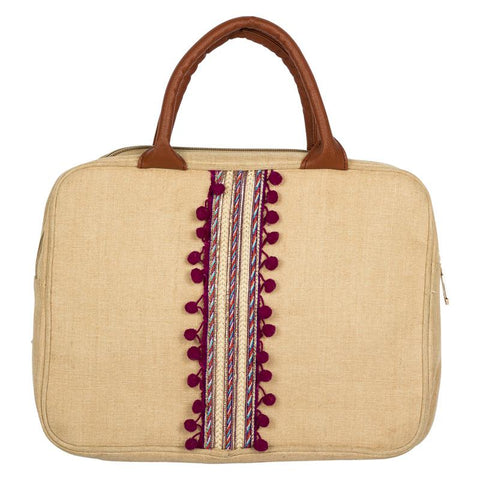 Ethnic Obsession Juco Laptop Sleeve Made by Women Artisans