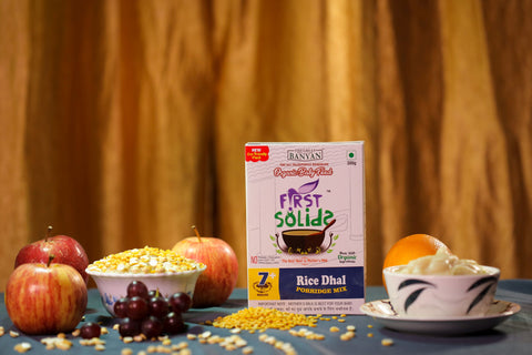 First Solids Organic Baby Porridge - Rice Dhal (7-24 Months)