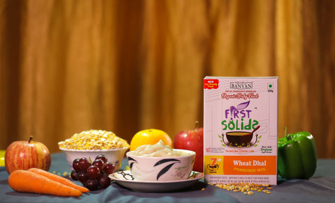 First Solids Organic Baby Porridge - Wheat Dhal (7-24 Months)