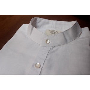 Full Sleeve White Shirt (Plain) Handcrafted by Traditional Weavers of Chennimalai village, TN
