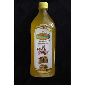 Natural Cold-Pressed Groundnut Oil, 1000ml
