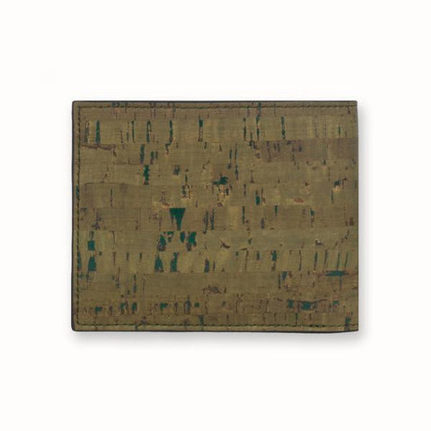 Cork  Fabric Men's Slimfold Wallet - Olive