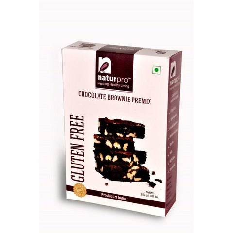 Gluten-Free, Eggless Chocolate Brownie Premix - Pack of 2, 250g each
