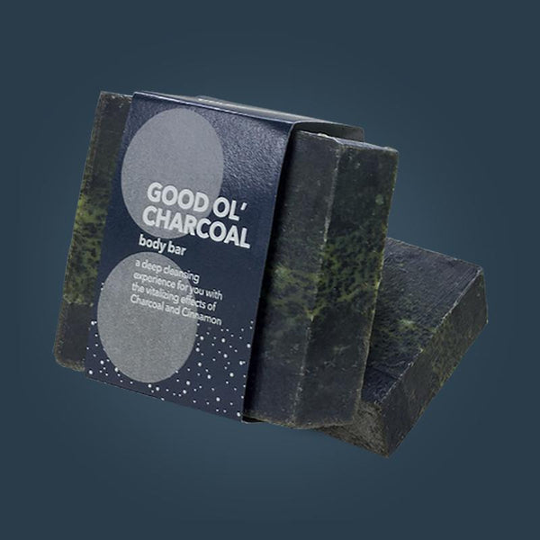 Good Ol' Charcoal - Natural and Vegan Body Bar (Pack of 2)