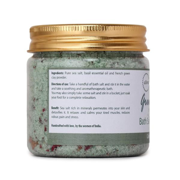 Green Clay and Basil Bath Salt, 150g