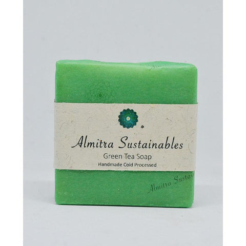 Handmade, Cold-Processed Green Tea Soap