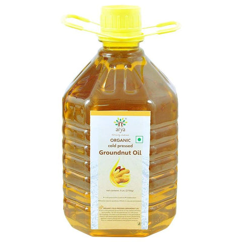 Organic Cold-Pressed Groundnut Oil, 3l