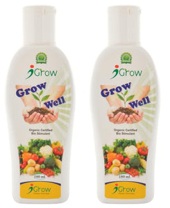 Grow Well Liquid Bio-Fertilizer for Plants , 180ml (Pack of 2)