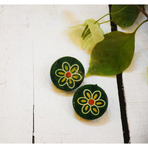 Hara Phool Earrings Handcrafted by Women Artisans of Varanasi