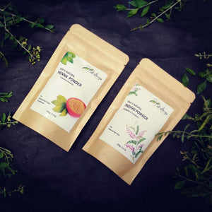Natural Hair Colour Combo - Henna and Indigo Leaf Powder, 100g each