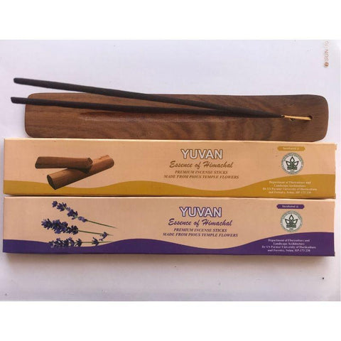 Hand-Rolled Incense Sticks Made from Upcycled Flowers (Pack of 2 - Lavender and Sandal)