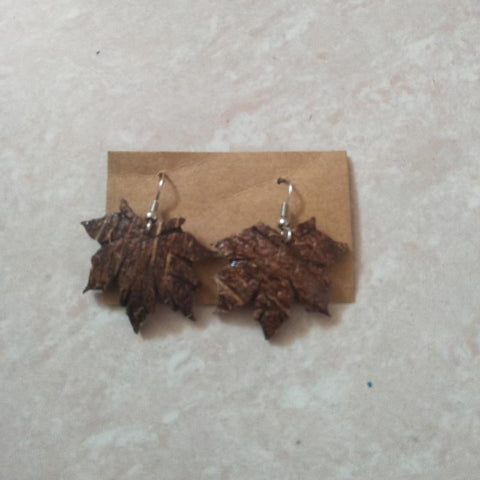 Coconut Shell Earrings Handcrafted by Rural Artisans of Alangulam - Jimiki