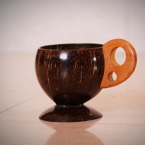 Coconut Shell Tea Cup Handcrafted by Rural Artisans of Alangulam