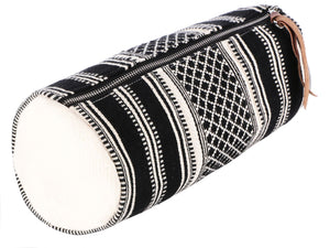 Handcrafted Multipurpose Travel Pouch (40) - Black/ White