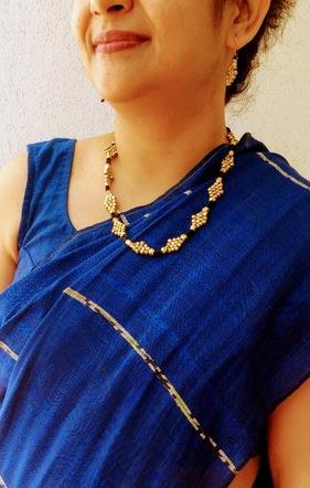 Handcrafted Orissa Tribal Beaded Jewellery Set