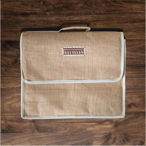 Handmade Jute Laptop Bag (Beige)