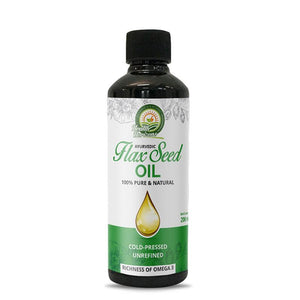 Natural Cold-pressed Flax Seed Oil, 200ml