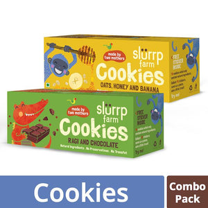 Healthy Wholegrain Cookies Combo Pack - Ragi, Chocolate, Oats, Honey and Banana with Zero Transfat  (Pack of 2) - 150g