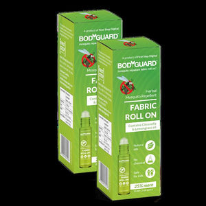 Bodyguard Herbal Fabric Roll-On Mosquito Repellent with Citronella and Lemongrass Oil