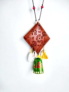 Bell Necklace Hand Painted by Women Artisans