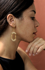 Muskan Handcrafted Gold Earrings (MG-4) in Bamboo and Gold-plated Brass