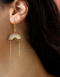 Muskan Handcrafted Gold Earrings (MG-5) in Bamboo and Gold-plated Brass