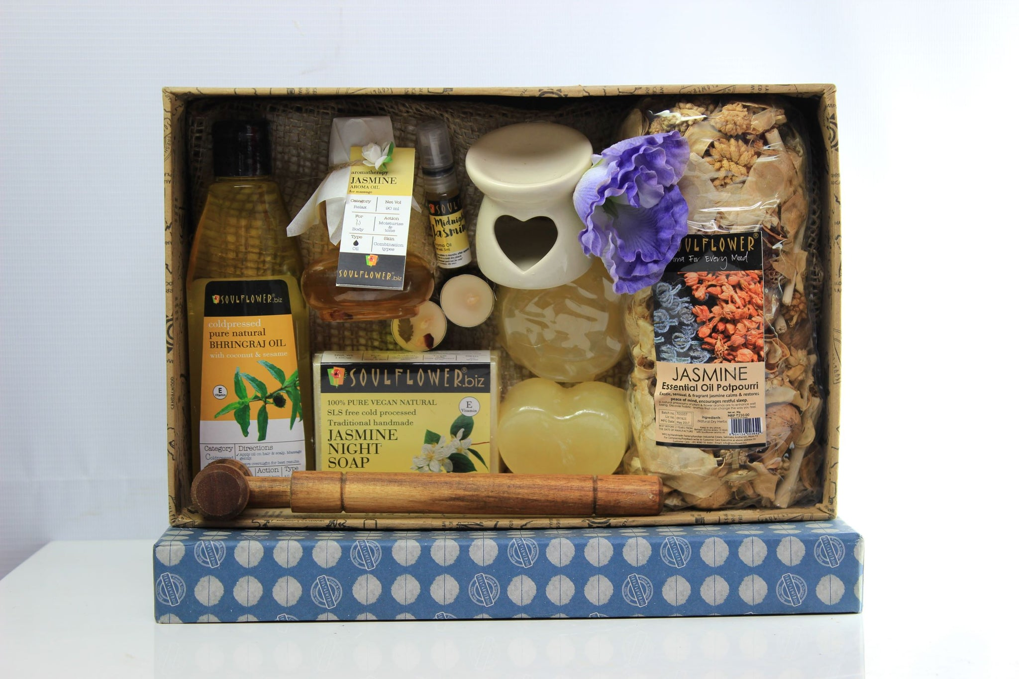 Soulflower Jasmine Festive Hamper Set