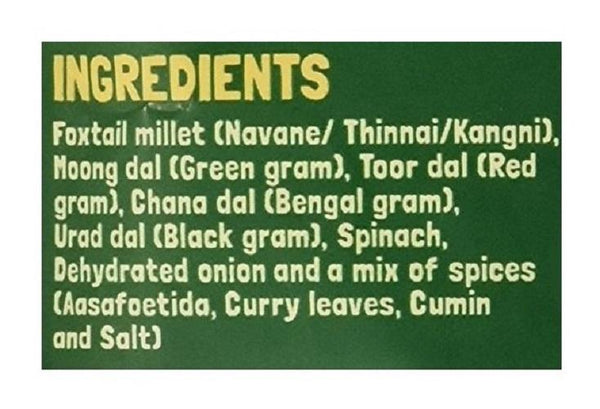 Instant Breakfast Millet Dosa Mix - Supergrains and Spinach (Pack of 3) - 450g
