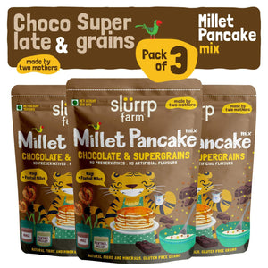 Instant Breakfast Millet Pancake Mix - Chocolate and Supergrains (Pack of 3) - 450g