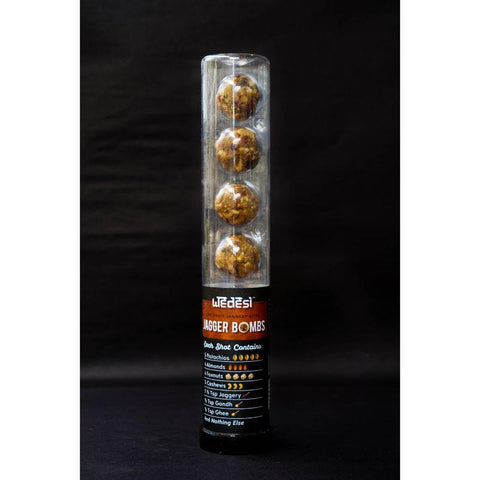 Jagger Bombs - Dry Fruit Jaggery Bites Jar - 7 Servings, 300g
