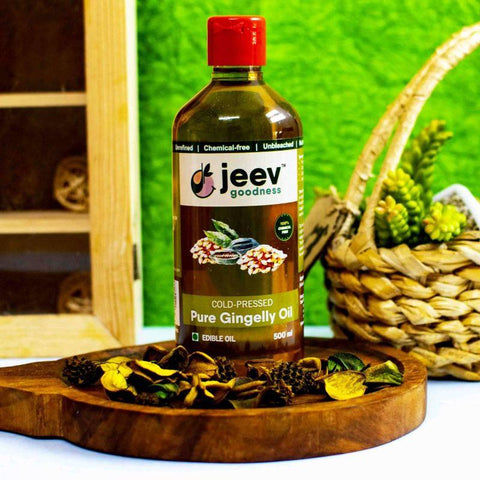 Cold-Pressed Gingelly (Sesame) Oil, 500ml