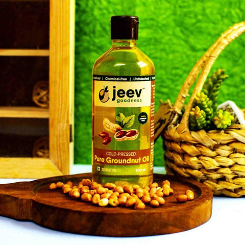 Cold-Pressed Groundnut Oil, 500ml