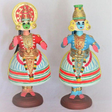Kathakali Doll made of Paper Waste- Set of 2
