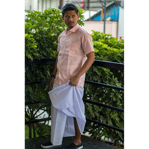 Men's Handwoven Khadi Dhoti - Plain White